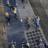 SolaRoad bike path from above, 2014