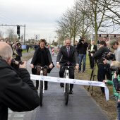 Opening of the SolaRoad bike path 2014