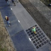 SolaRoad bike path from above, 2015